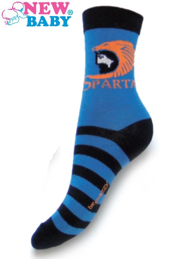 Detské bavlnené ponožky New Baby modré sparta
