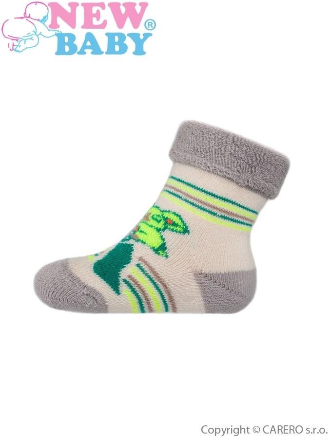 Dojčenské froté ponožky New Baby sivé coala