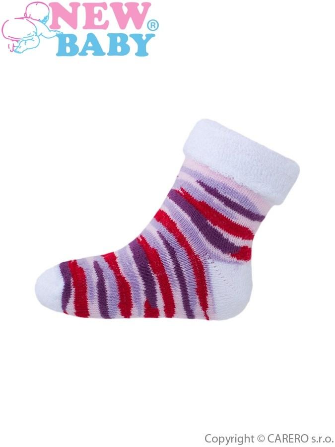 Detské froté ponožky New Baby so vzorom ružové