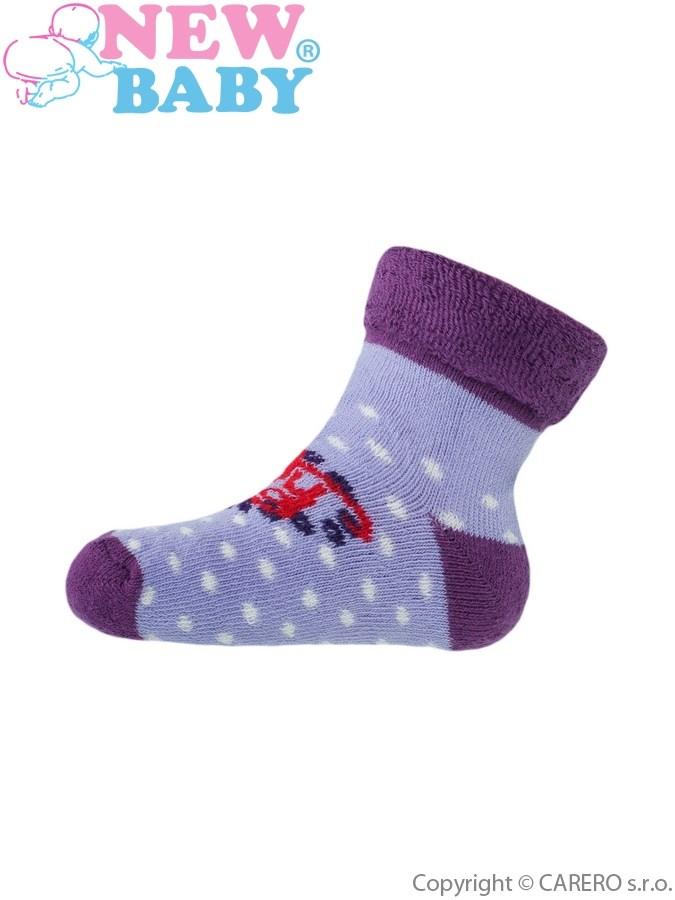 Detské froté ponožky New Baby fialové lady