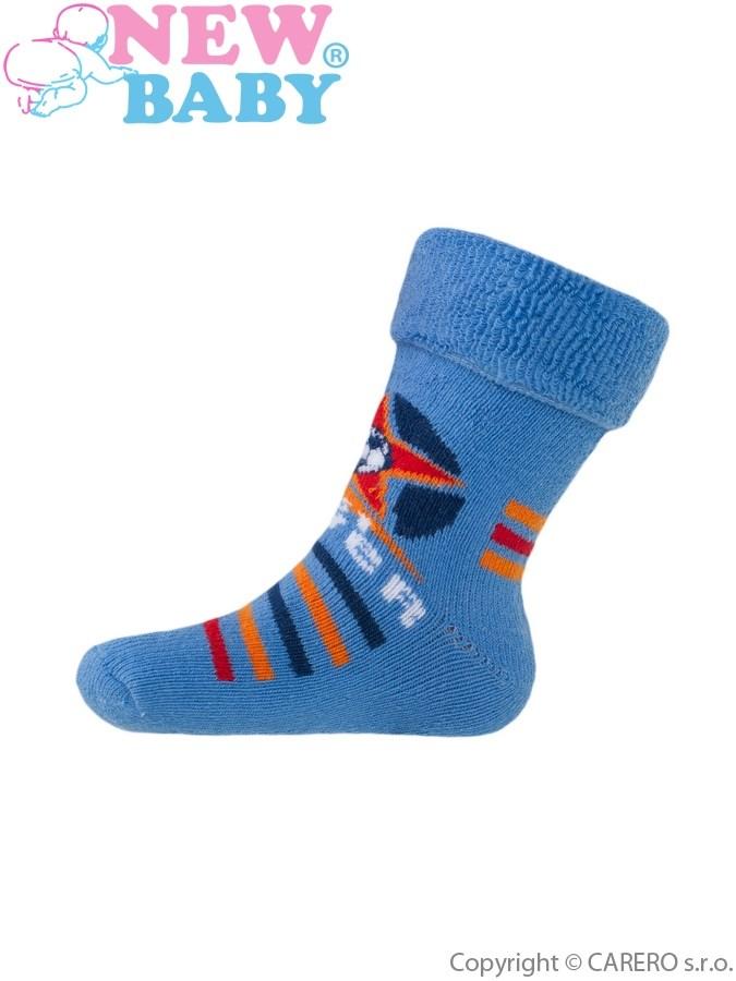 Detské froté ponožky New Baby modré player
