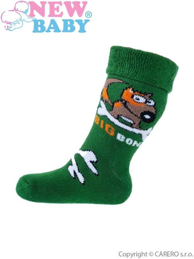 Detské froté ponožky New Baby zelené big bone