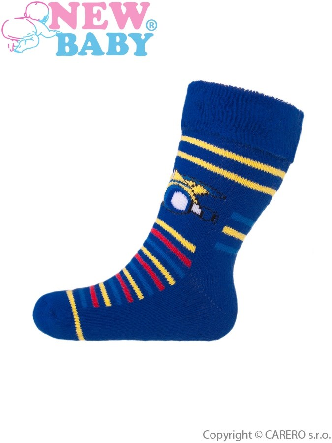 Detské froté ponožky New Baby modré formula