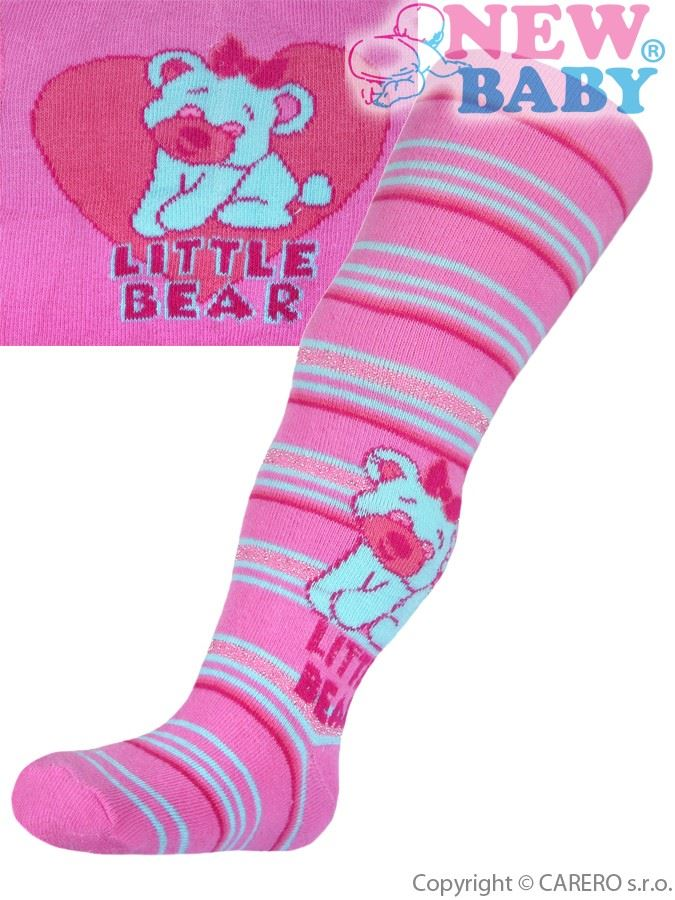 Bavlnené pančucháčky New Baby ružové little bear