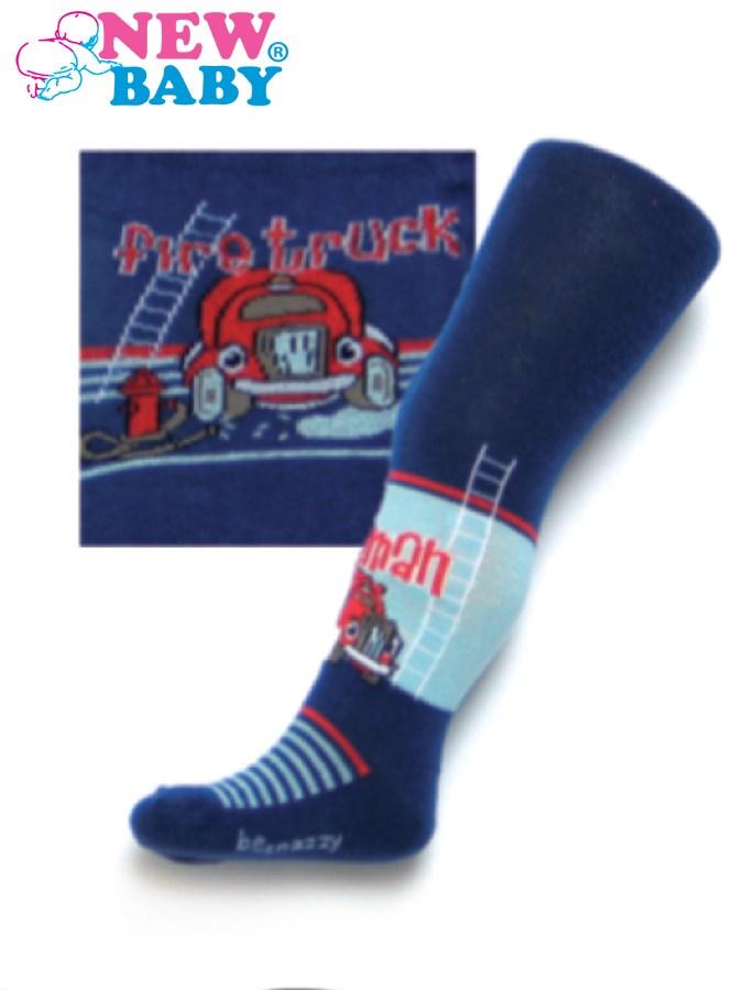 Bavlnené pančucháčky New Baby tmavo modré fireman