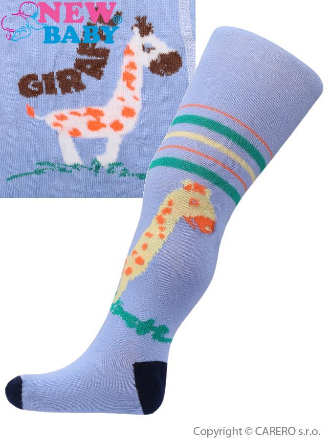 Bavlnené pančucháčky New Baby modré s žirafou