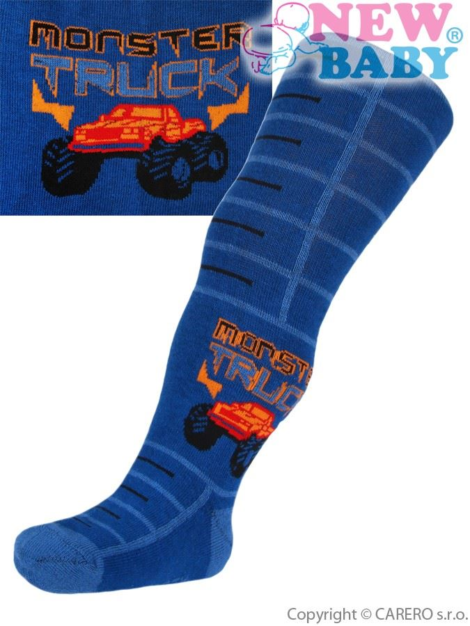 Bavlnené pančucháčky New Baby modré monster truck
