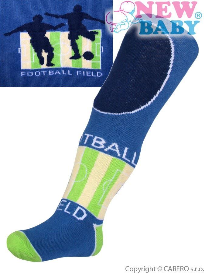 Bavlnené pančucháčky New Baby modré football