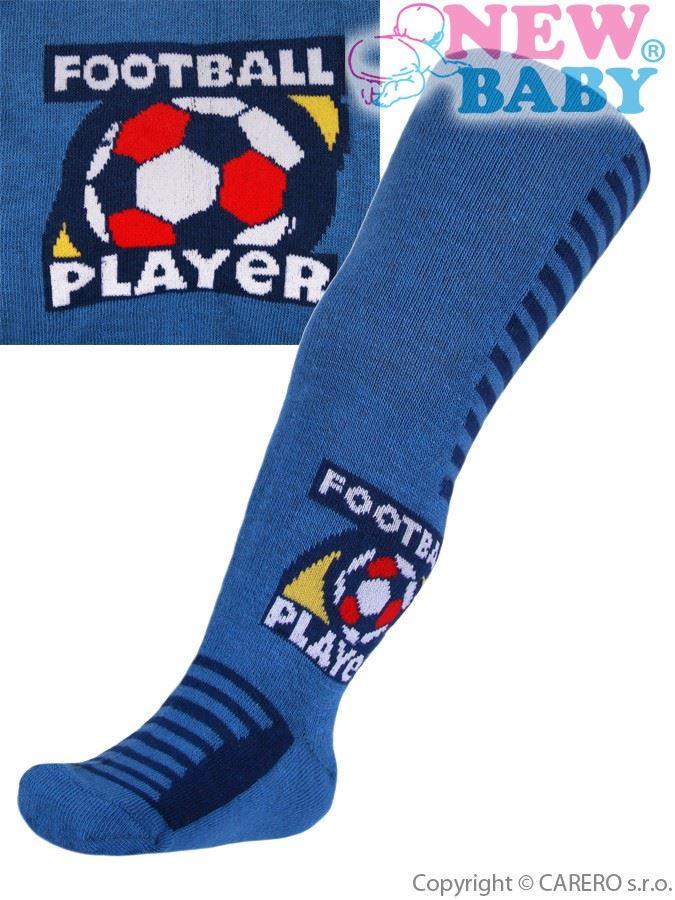 Bavlnené pančucháčky New Baby modré football player