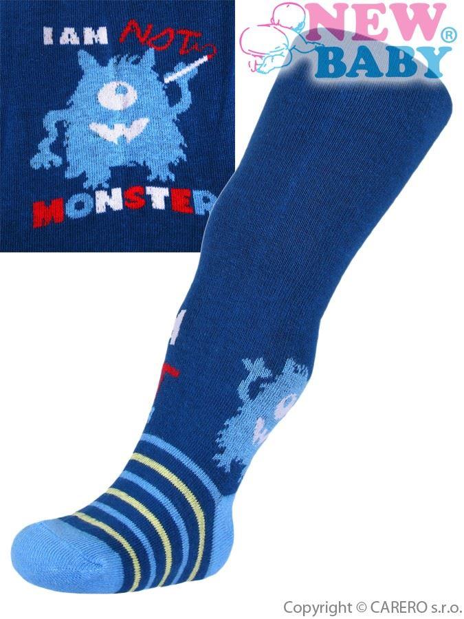 Bavlnené pančucháčky New Baby modré s príšerou