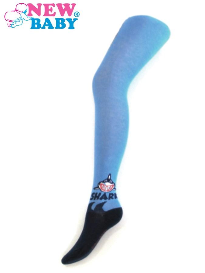 Bavlnené pančucháčky New Baby modré shark