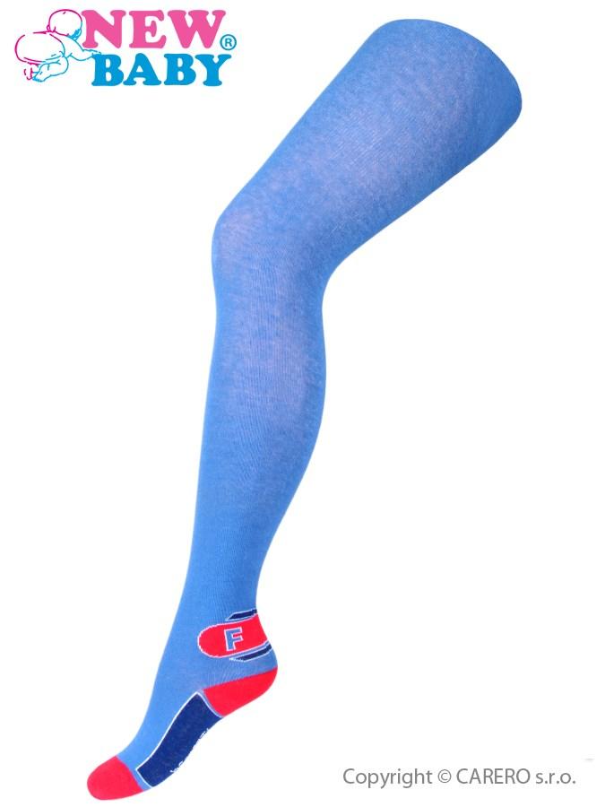 Bavlnené pančucháče New Baby modré s písmenom F
