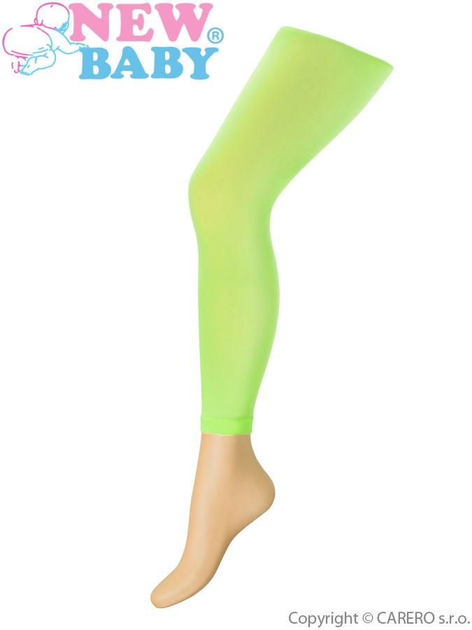 Tenké jednofarebné legínky New Baby zelené