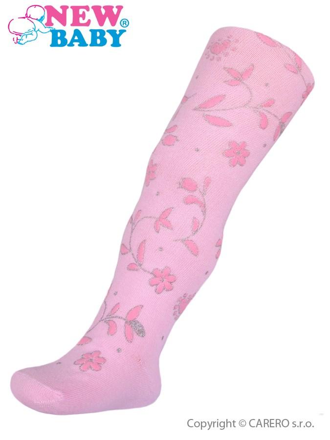 Bavlnené pančucháče 3D New Baby ružové