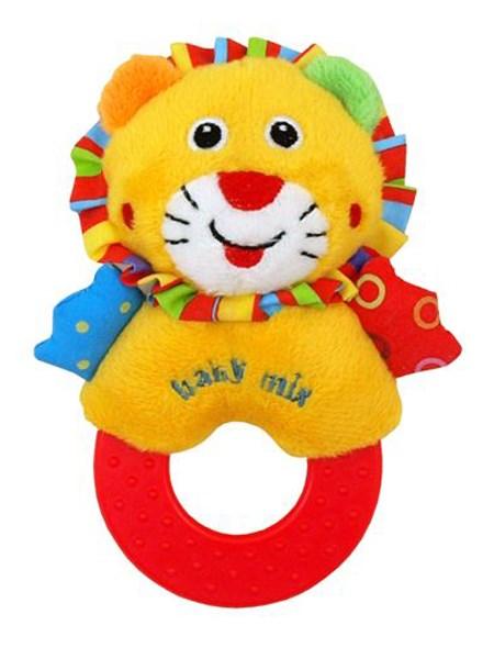 Detská plyšová hrkálka Baby Mix lev