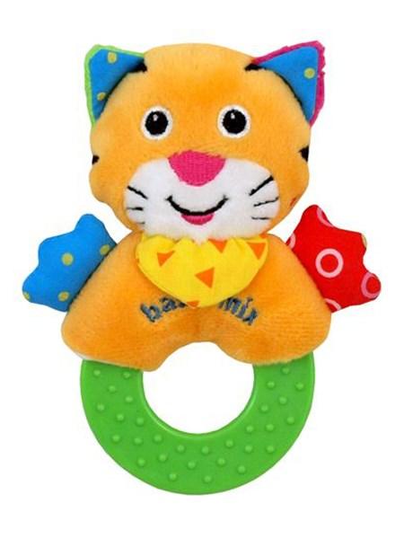 Detská plyšová hrkálka Baby Mix tiger