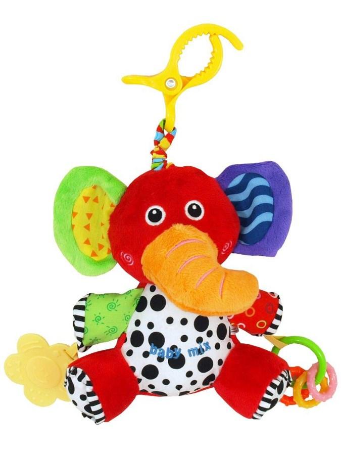 Detská plyšová hračka s vibráciou Baby Mix slon