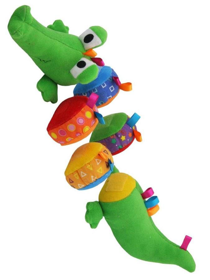 Plyšová edukačná hračka Baby Mix krokodíl