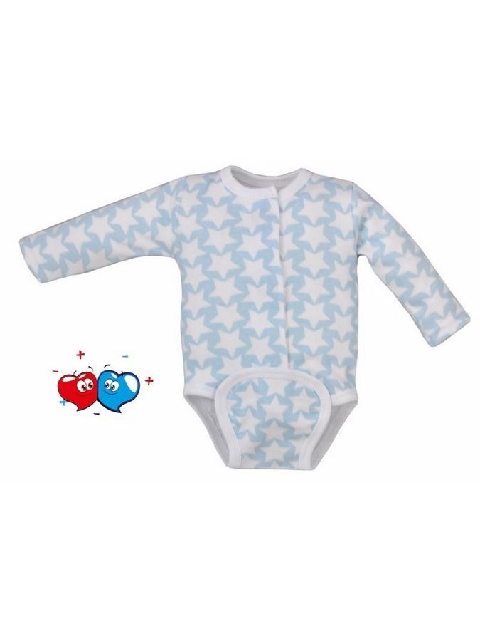 Dojčenské body celorozopínacie Koala Magnetky modré s hviezdičkami
