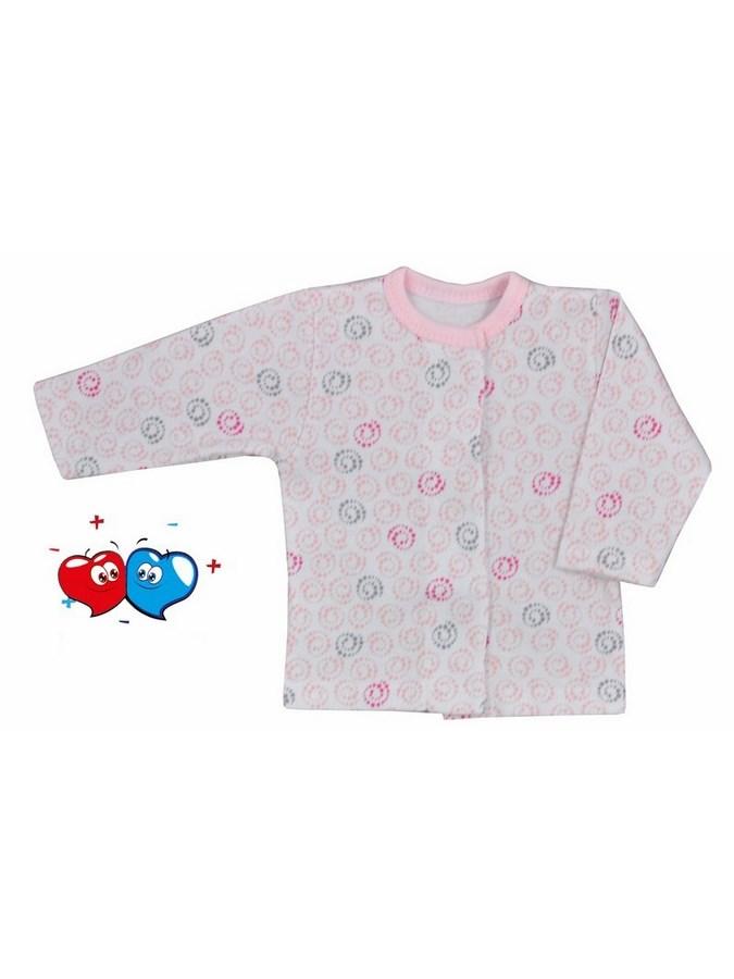 Dojčenský kabátik Koala Magnetky ružový so špirálkami