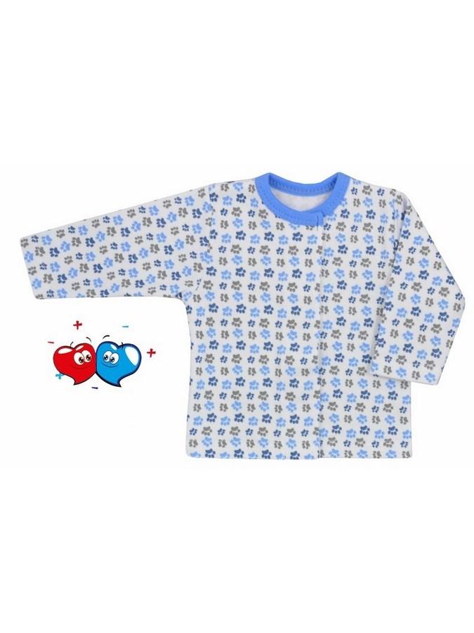Dojčenský kabátik Koala Magnetky modrý z labkami