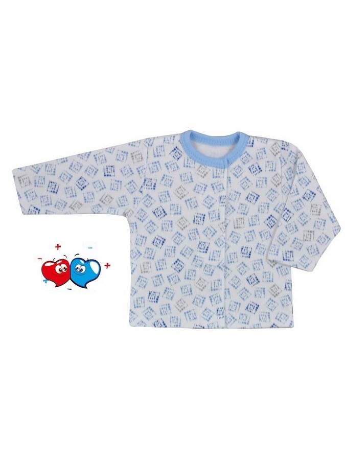 Dojčenský kabátik Koala Magnetky modrý s kockami