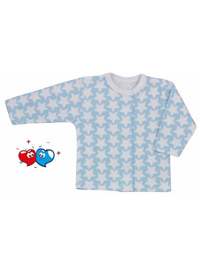 Dojčenský kabátik Koala Magnetky modrý s hviezdičkami