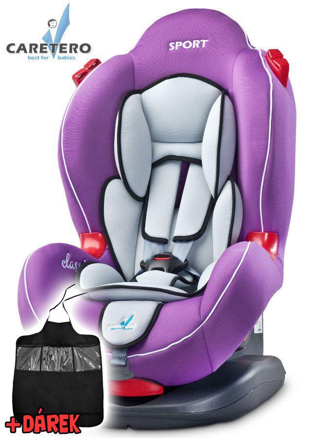 Autosedačka CARETERO Sport classic purple 2016 + darček