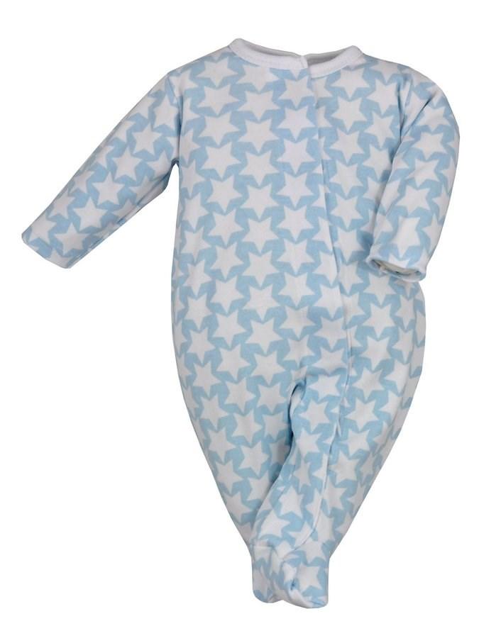 Dojčenský overal Koala Magnetky modrý s hviezdičkami