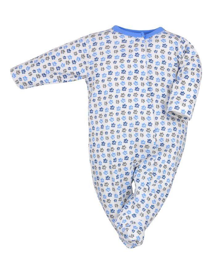 Dojčenský overal Koala Magnetky modrý s labkami
