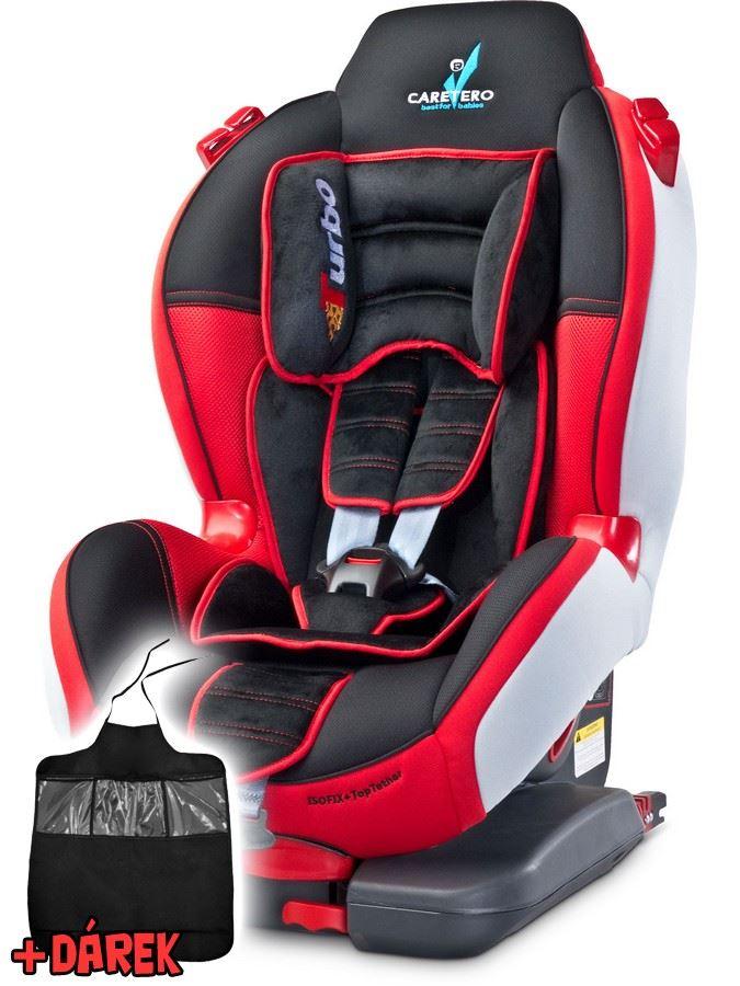 Autosedačka CARETERO Sport TurboFix red 2016 + darček
