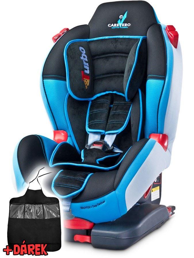 Autosedačka CARETERO Sport TurboFix blue 2016 + darček