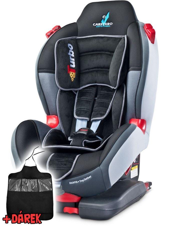 Autosedačka CARETERO Sport TurboFix graphite 2016 + darček