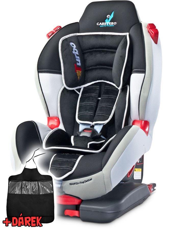 Autosedačka CARETERO Sport TurboFix grey 2016 + darček