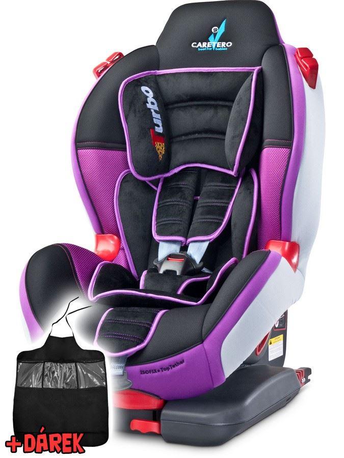 Autosedačka CARETERO Sport TurboFix purple 2016 + darček