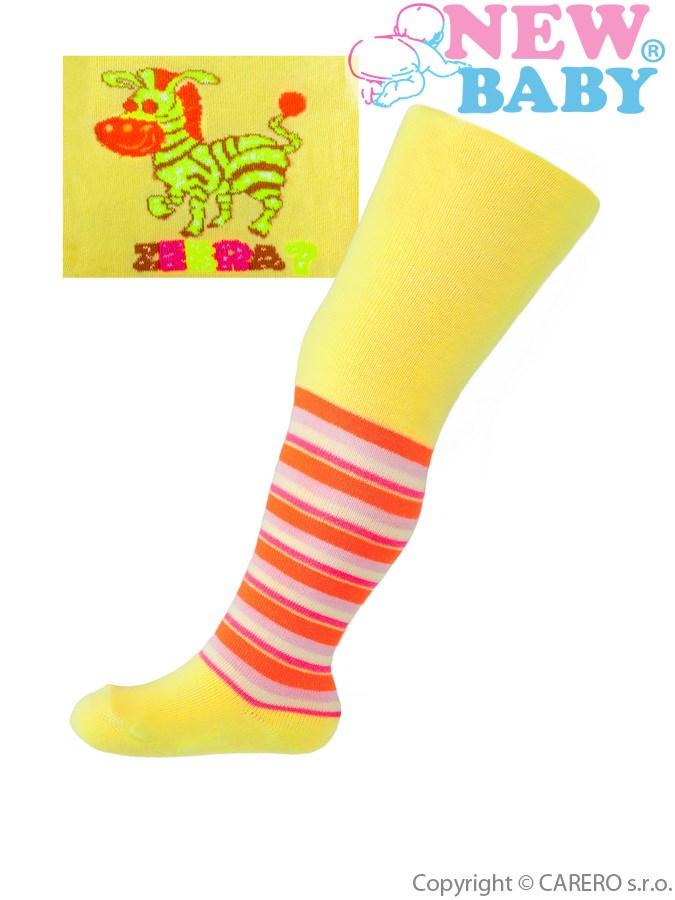Bavlnené pančucháčky New Baby žlté zebra