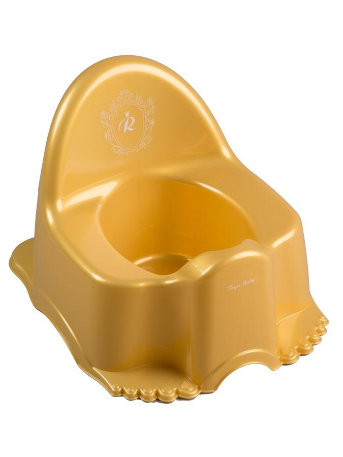 Hrajúci detský nočník Royal zlatý