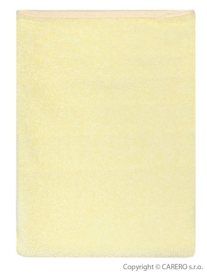 Nepremokavá podložka Akuku froté 110x60 žltá
