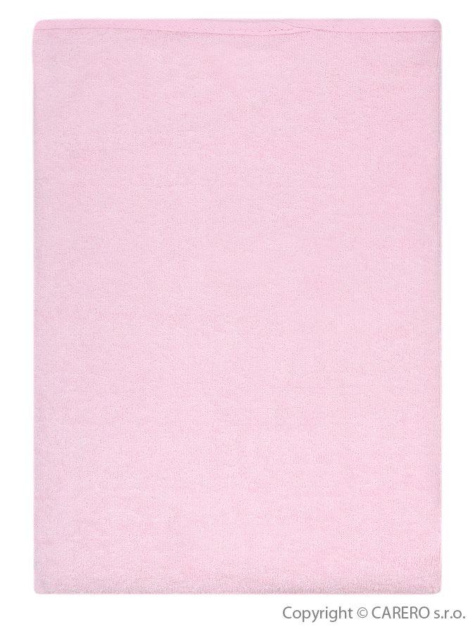 Nepremokavá podložka Akuku froté 110x60 ružová