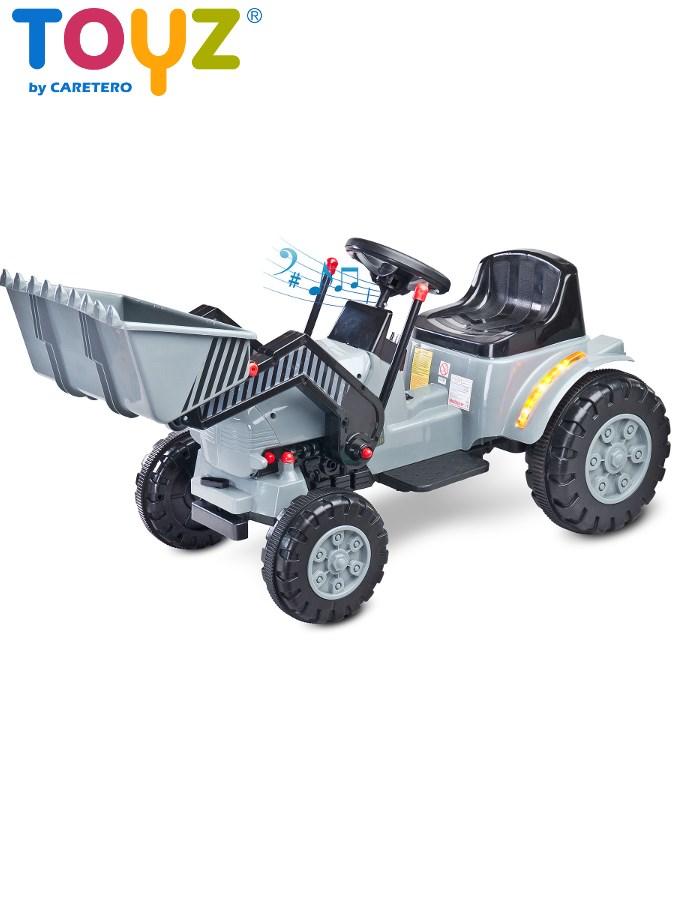 Elektrický bager Toyz Bulldozer sivý