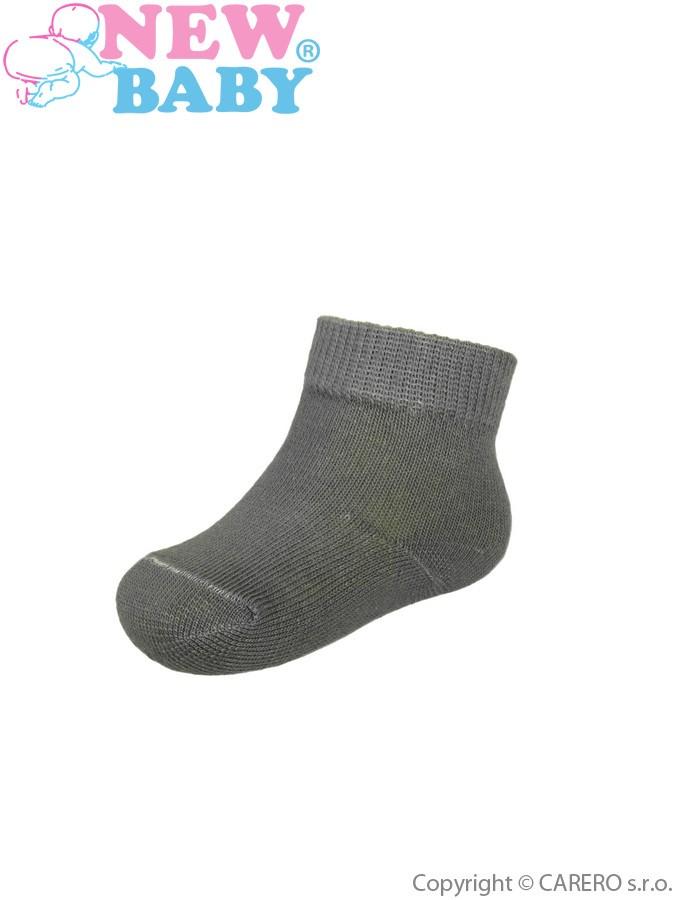 Dojčenské bavlnené ponožky New Baby olivové