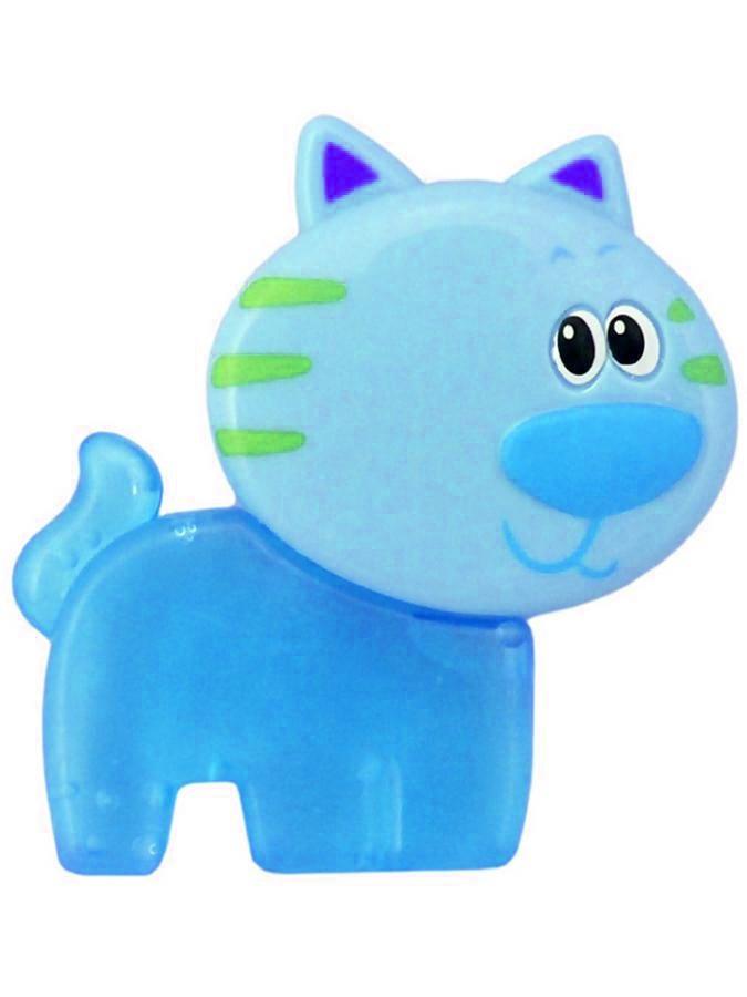 Chladiace hryzátko Baby Mix Mačička modré