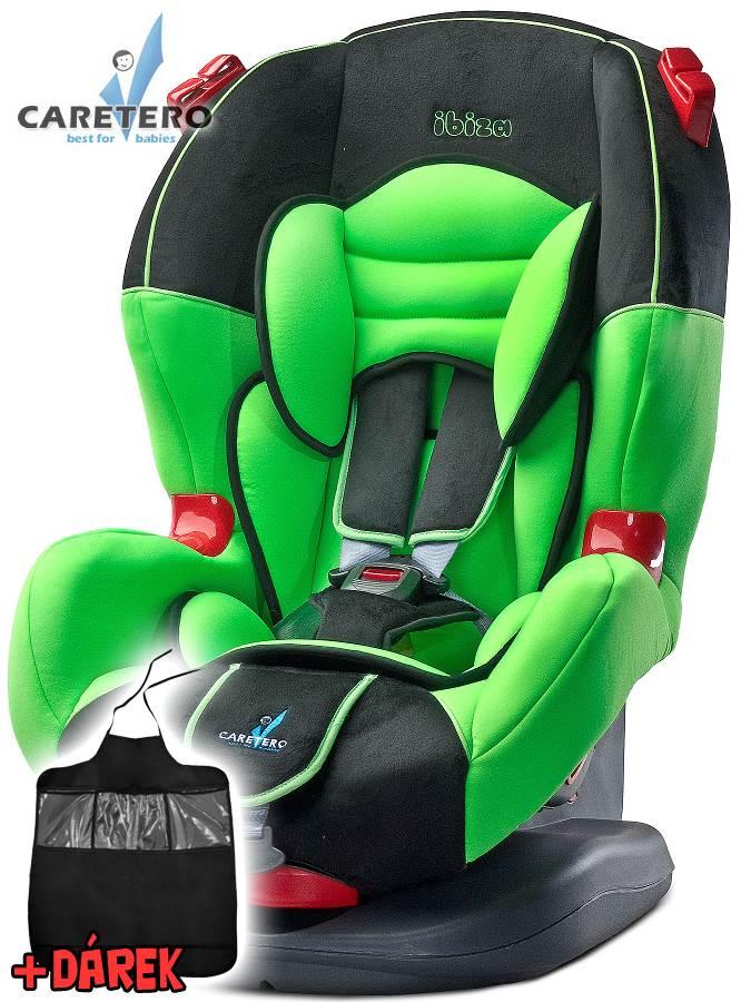 Autosedačka CARETERO IBIZA New green 2016 + darček