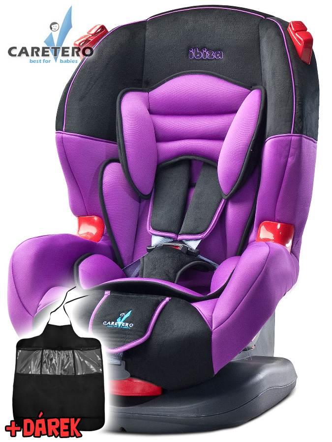 Autosedačka CARETERO IBIZA New purple 2016 + darček