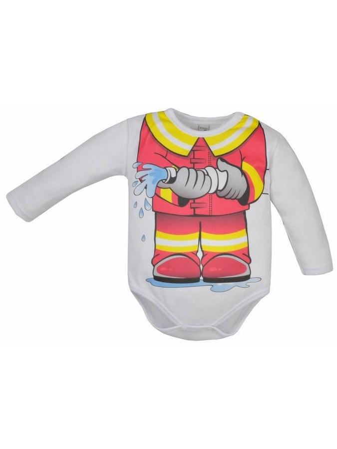 Dojčenské body Bobas Fashion Hrdina s hasičom