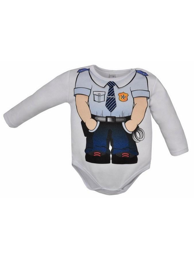 Dojčenské body Bobas Fashion Hrdina s policajtom