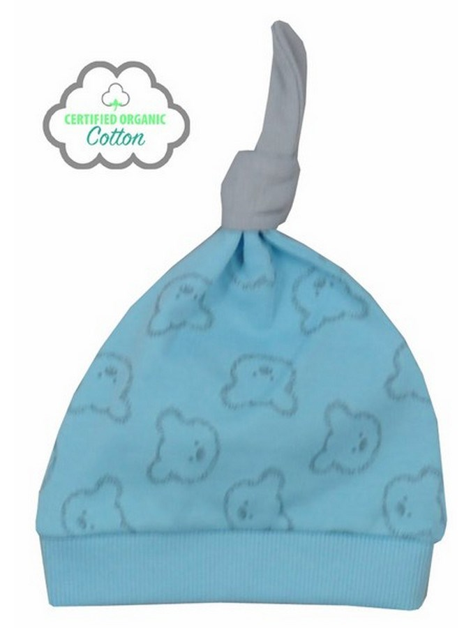 Dojčenská BIO čiapočka Koala Malí Mackovia modrá