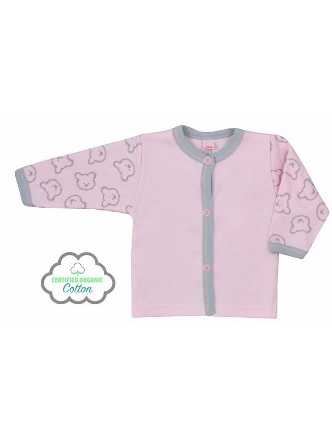 Dojčenský BIO kabátik Koala Malí Mackovia ružový