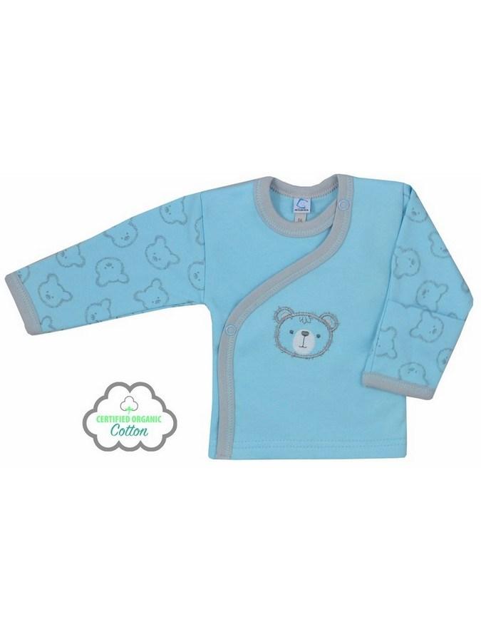 Dojčenská BIO košieľka Koala Malí Mackovia modrá