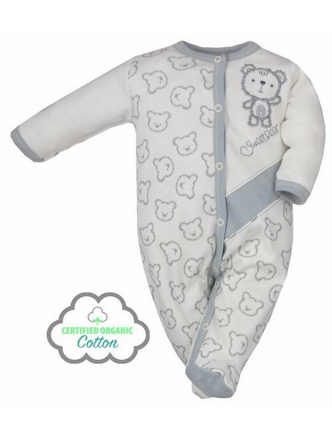 Dojčenský BIO overal Koala Malí Mackovia bežový